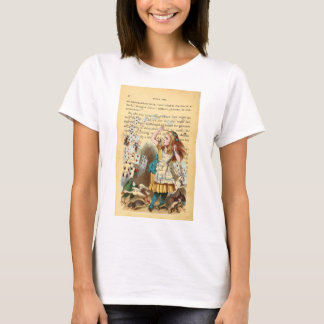 Alice in Wonderland Flying Cards Woman's Tee