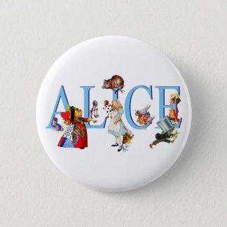 ALICE IN WONDERLAND & FRIENDS 6 CM ROUND BADGE