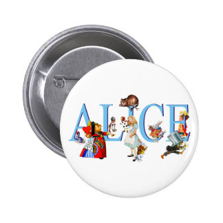 ALICE IN WONDERLAND & FRIENDS 6 CM ROUND BADGE