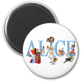 ALICE IN WONDERLAND & FRIENDS 6 CM ROUND MAGNET