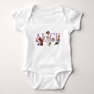 ALICE IN WONDERLAND & FRIENDS BABY BODYSUIT