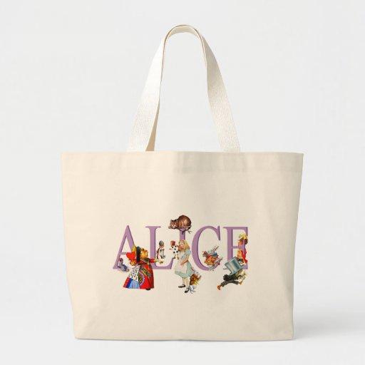 ALICE IN WONDERLAND & FRIENDS TOTE BAG