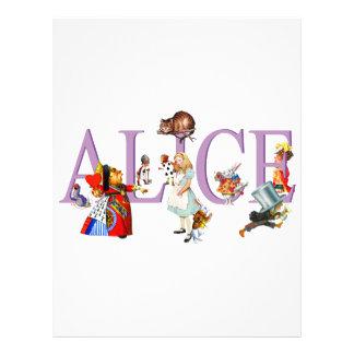 ALICE IN WONDERLAND & FRIENDS CUSTOM FLYER