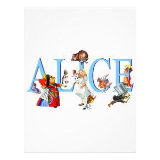 ALICE IN WONDERLAND FRIENDS FLYERS