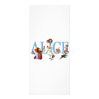 ALICE IN WONDERLAND & FRIENDS FULL COLOUR RACK CARD