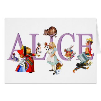 ALICE IN WONDERLAND FRIENDS GREETING CARDS
