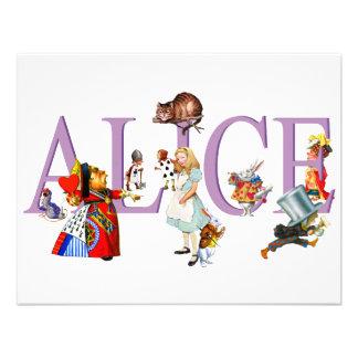 ALICE IN WONDERLAND & FRIENDS CUSTOM INVITES