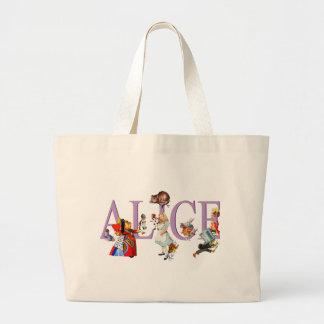 ALICE IN WONDERLAND & FRIENDS JUMBO TOTE BAG