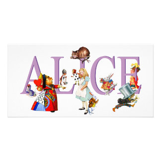 ALICE IN WONDERLAND & FRIENDS PERSONALIZED PHOTO CARD