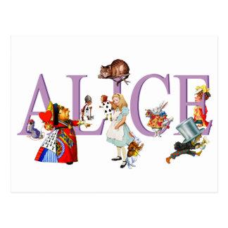 ALICE IN WONDERLAND & FRIENDS POSTCARD