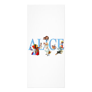 ALICE IN WONDERLAND FRIENDS FULL COLOR RACK CARD