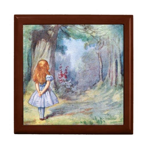 Alice in Wonderland Gift Trinket Jewelry Box
