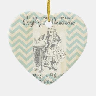 Alice in Wonderland Gifts Ceramic Heart Decoration