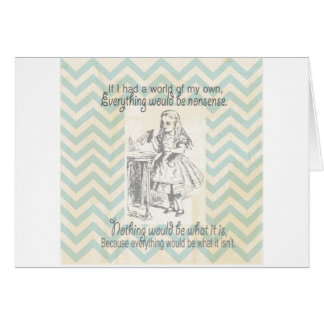 Alice in Wonderland Gifts Greeting Card