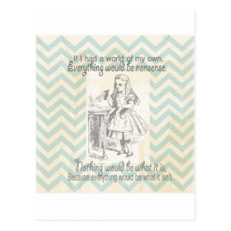 Alice in Wonderland Gifts Post Card