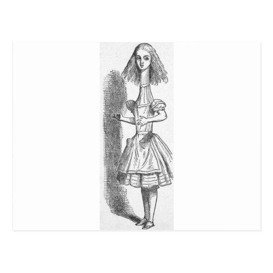 Alice in Wonderland Grows Tall Postcard