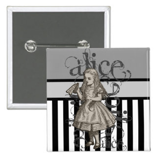 Alice In Wonderland Grunge 15 Cm Square Badge