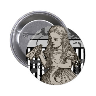 Alice In Wonderland Grunge 6 Cm Round Badge