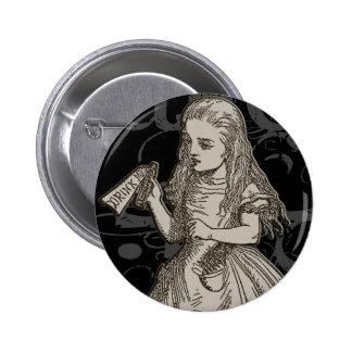Alice In Wonderland Grunge 6 Cm Round Badge