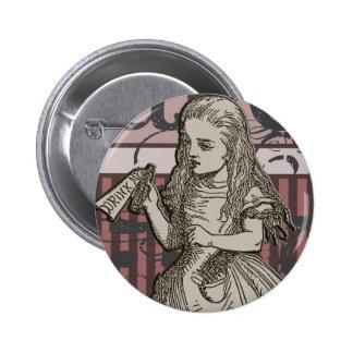 Alice In Wonderland Grunge (Pink) 6 Cm Round Badge