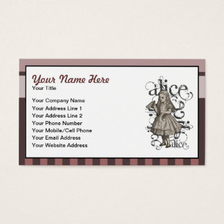 Alice In Wonderland Grunge (Pink) Business Card