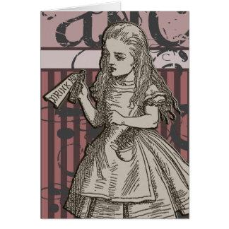 Alice In Wonderland Grunge (Pink) Card