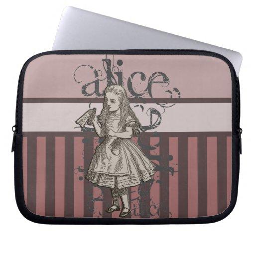 Alice In Wonderland Grunge (Pink) Computer Sleeve
