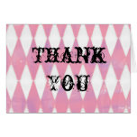 alice in wonderland harlequin thank you card