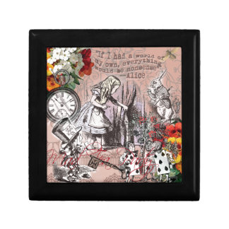Alice in Wonderland Hatter and Rabbit Small Square Gift Box
