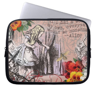 Alice in Wonderland Hatter and Rabbit Laptop Sleeve