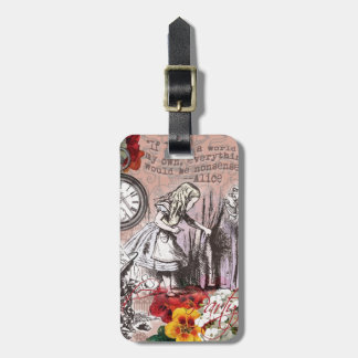 Alice in Wonderland Hatter and Rabbit Luggage Tag