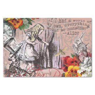 Alice in Wonderland Hatter and Rabbit Tissue Paper