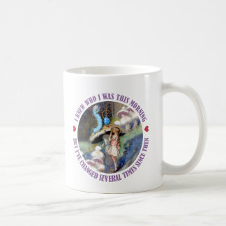 Alice in Wonderland: I knew Who I was this Morning Coffee Mugs