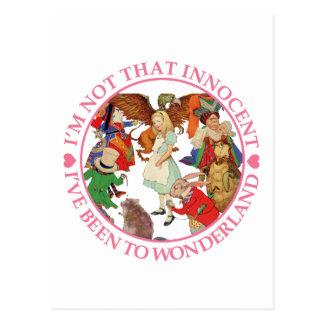 Alice in Wonderland - I'm Not That Innocent Postcard