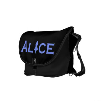 Alice in Wonderland in Periwinkle Blue Commuter Bag