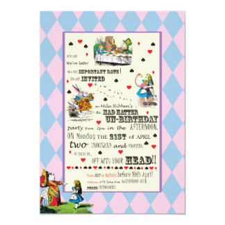 Alice in Wonderland - Invitation - Personalized