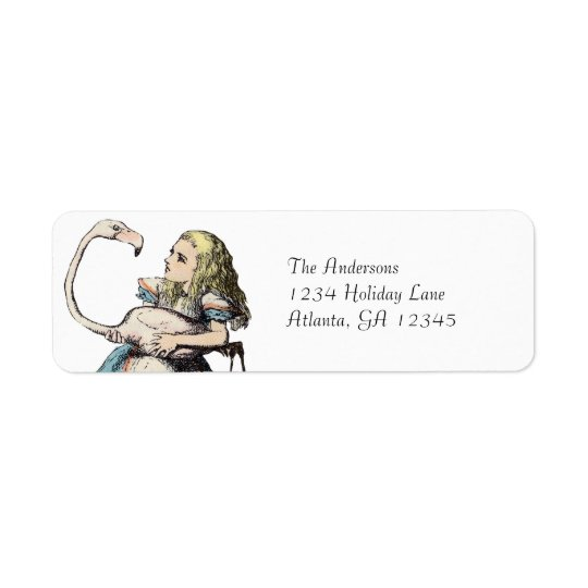 Alice In Wonderland Invitation Return Address