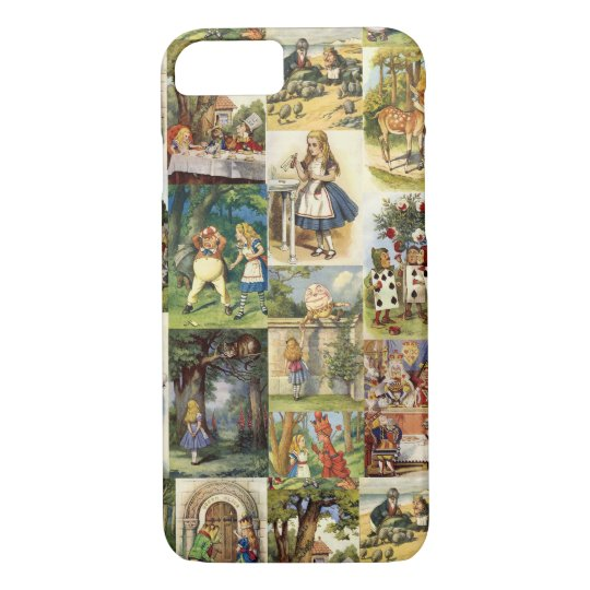 Alice in Wonderland iPhone 7 case collage