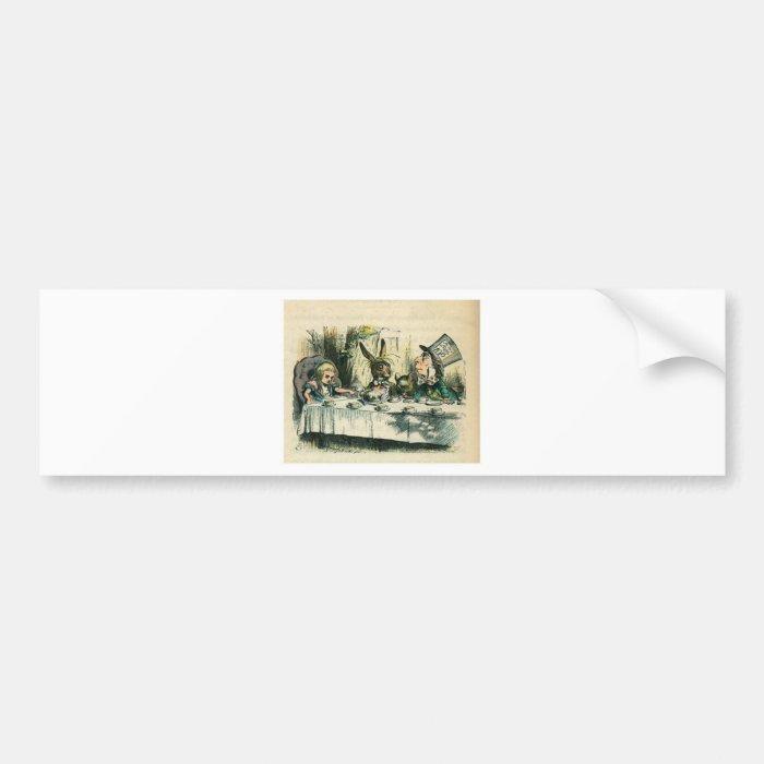 Alice in Wonderland: It's a Mad Tea Party Bumper Sticker