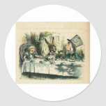 Alice in Wonderland: It's a Mad Tea Party Round Stickers