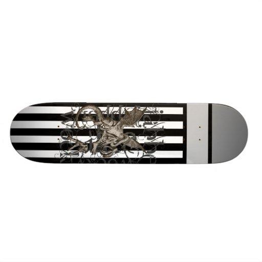 Alice In Wonderland Jabberwocky Grunge Custom Skateboard