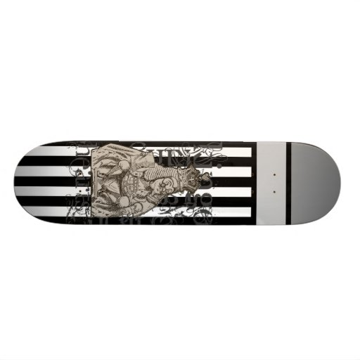 Alice In Wonderland King of Hearts Grunge Skate Board Decks