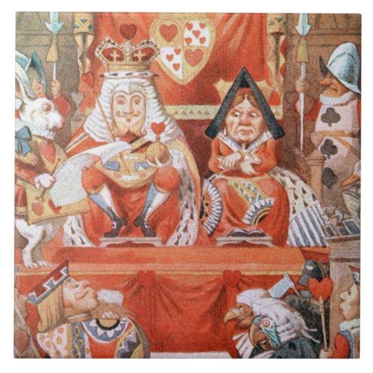 Alice in Wonderland King & Queen of Hearts Tile