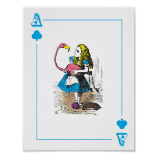 Alice in Wonderland - Large Playing Card Poster
