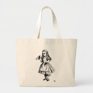 Alice in Wonderland Large Tote Bag