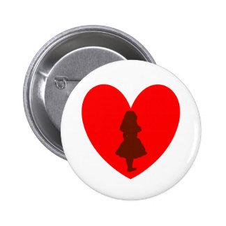 Alice in Wonderland Love 6 Cm Round Badge