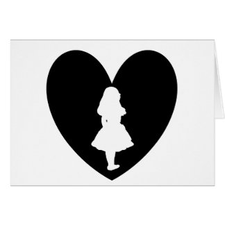 Alice in Wonderland Love In Black & White Card