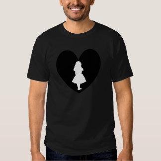 Alice in Wonderland Love In Black & White Shirts