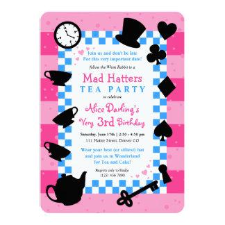 Alice in Wonderland Mad Hatter Birthday Invitation