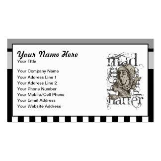 Alice In Wonderland Mad Hatter Grunge Business Card Template